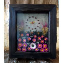 Orologio grande con fiori