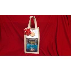 Mini borsetta in juta da regalo