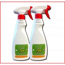 Lozione Spray all'olio di neem e sapone molle pronta all'uso - 2x 500ml, per animali e orto